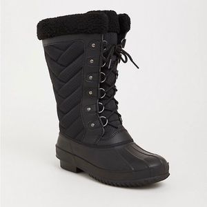 Torrid Black Sherpa Boot 🆕